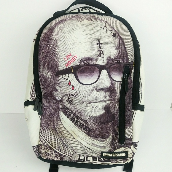 f670aca361 Sprayground Lil Ben Hundred Dollar Bill Backpack. M 5b7b8a06aa87700bd9f12d71
